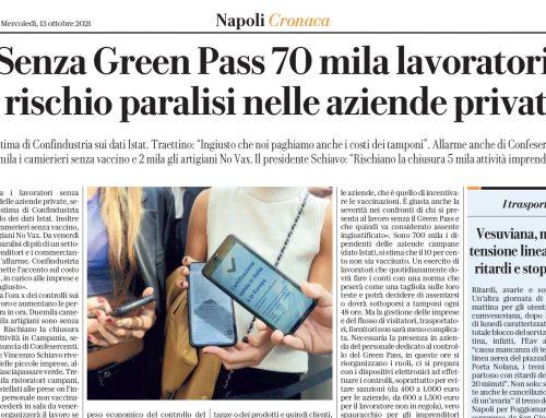 Senza Grenn Pass 70 mila lavoratori è rischio paralisi nelle aziende private